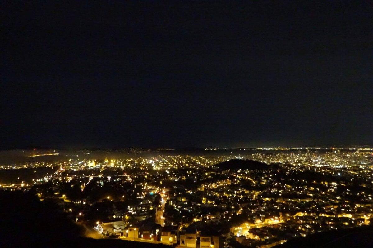 Bilder und Eindrücke aus San Francisco bei Nacht, California, United States.