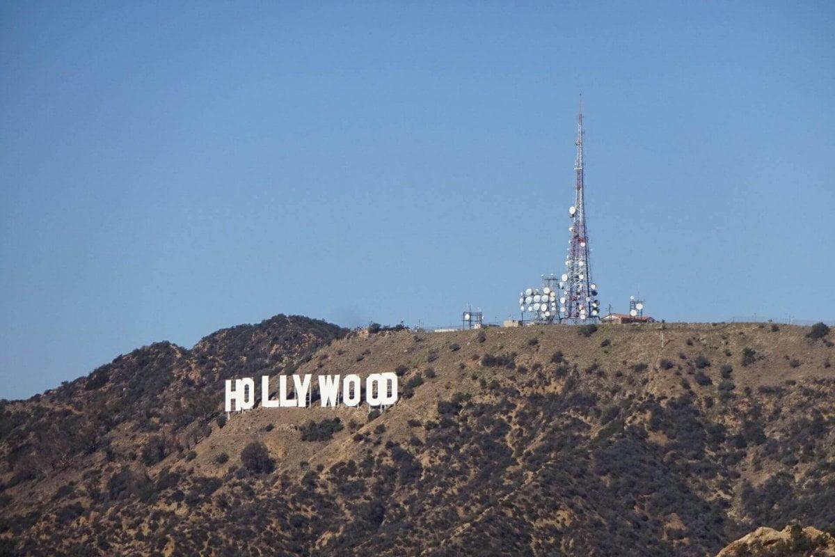 Hollywood Sign. Gesehen vom Griffith Observatorium. Bilder und Eindrücke aus Los Angeles und Hollywood, Kalifornien, USA.