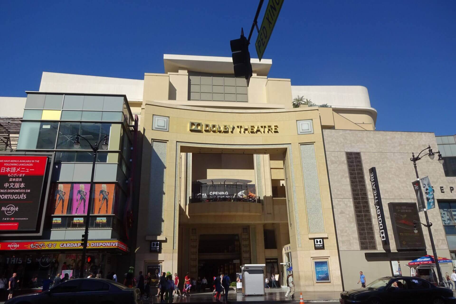 Dolby Theater in Hollywood. Bilder und Eindrücke aus Los Angeles und Hollywood, Kalifornien, USA.