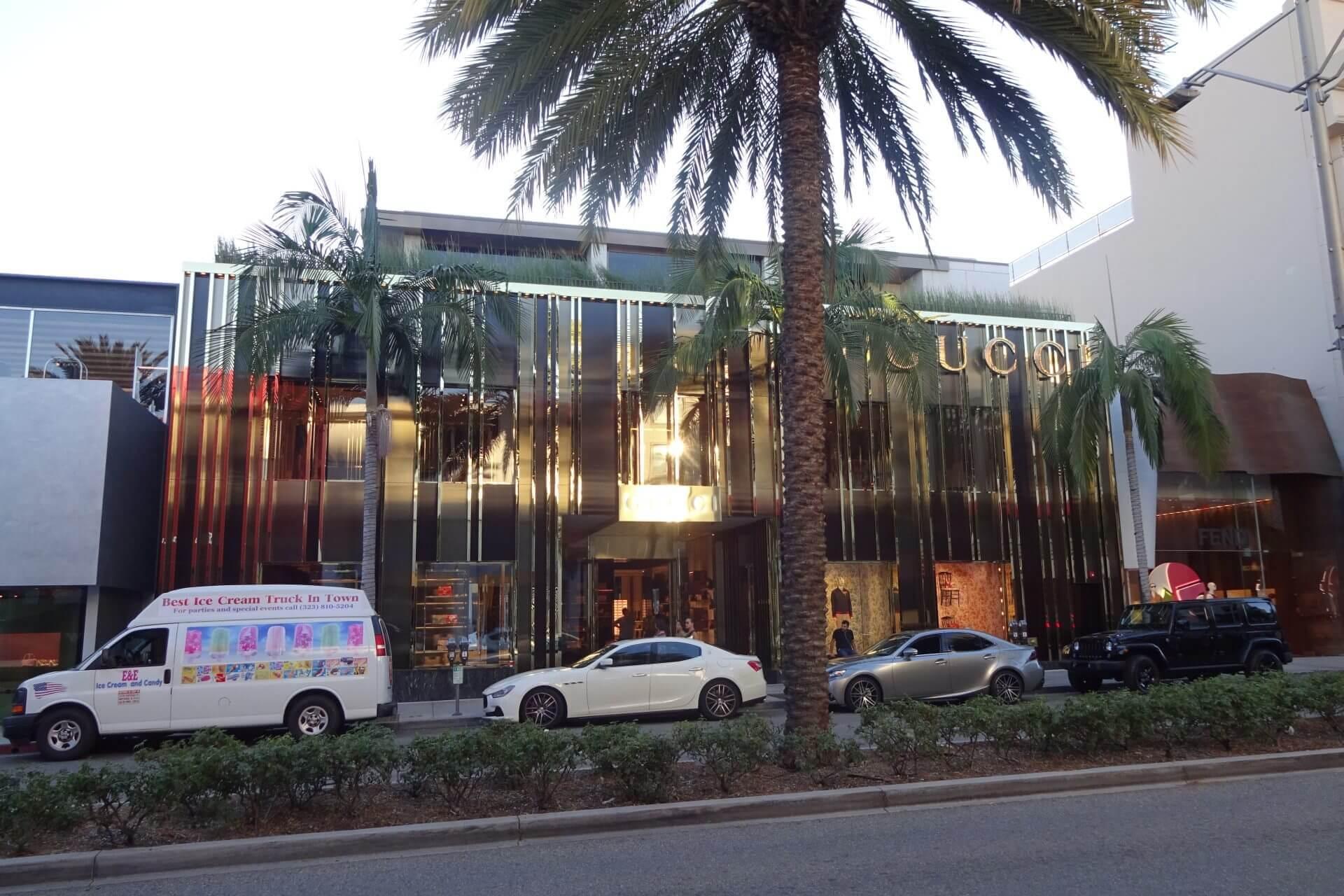 Rodeo Drive. Beverly Hills. Bilder und Eindrücke aus Los Angeles und Hollywood, Kalifornien, USA.