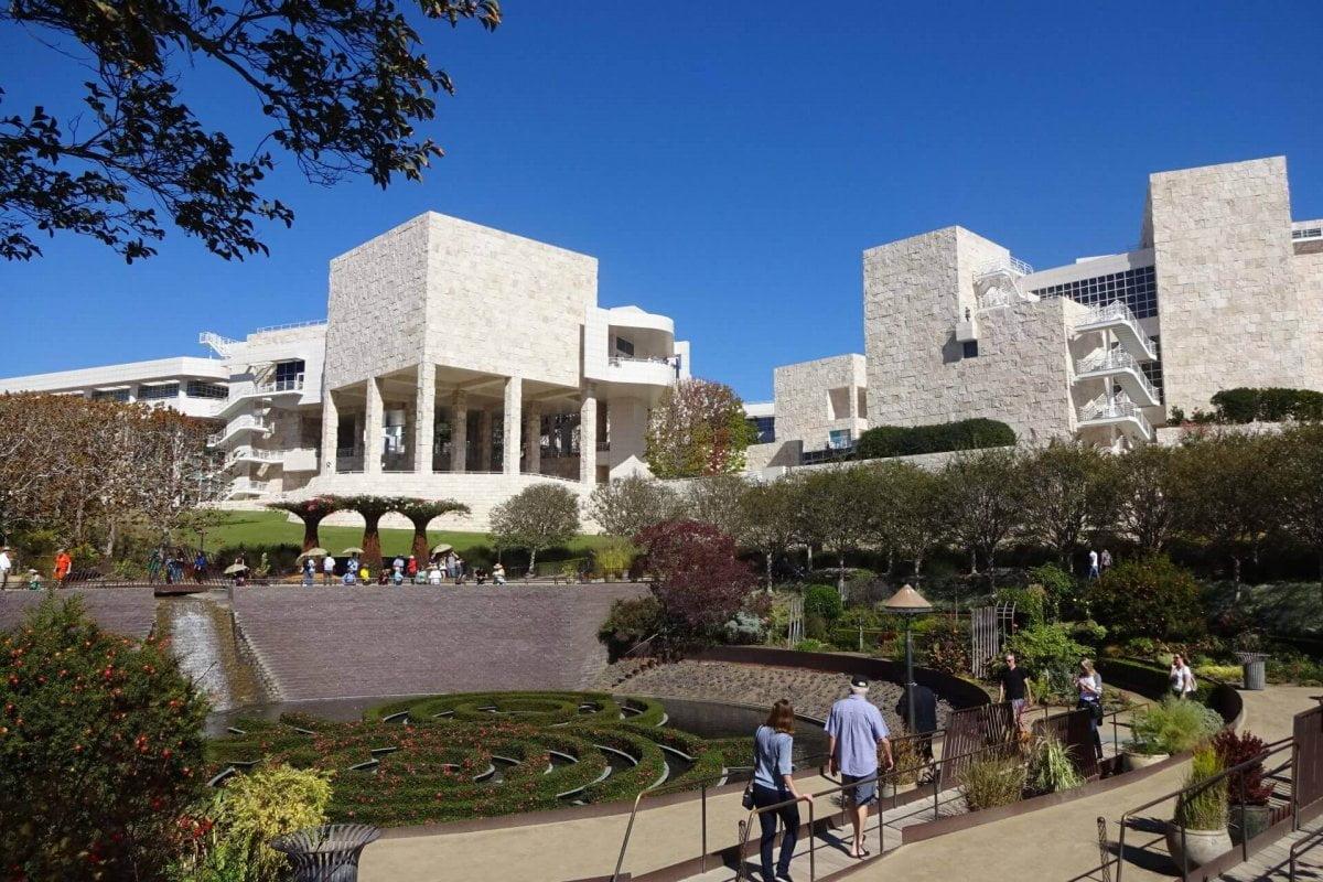 Außenanlagen Getty Center. Bilder und Eindrücke aus Los Angeles und Hollywood, Kalifornien, USA.