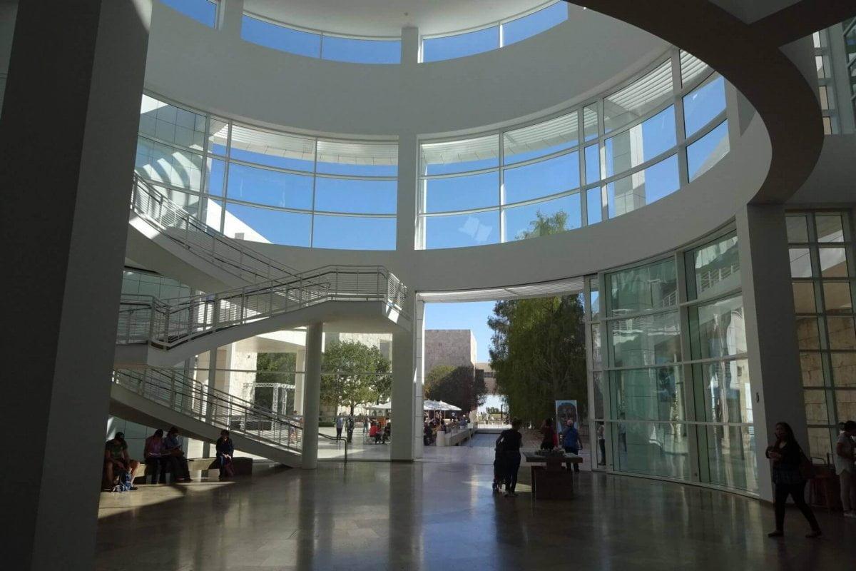 Eingangsbereich Getty Center. Bilder und Eindrücke aus Los Angeles und Hollywood, Kalifornien, USA.