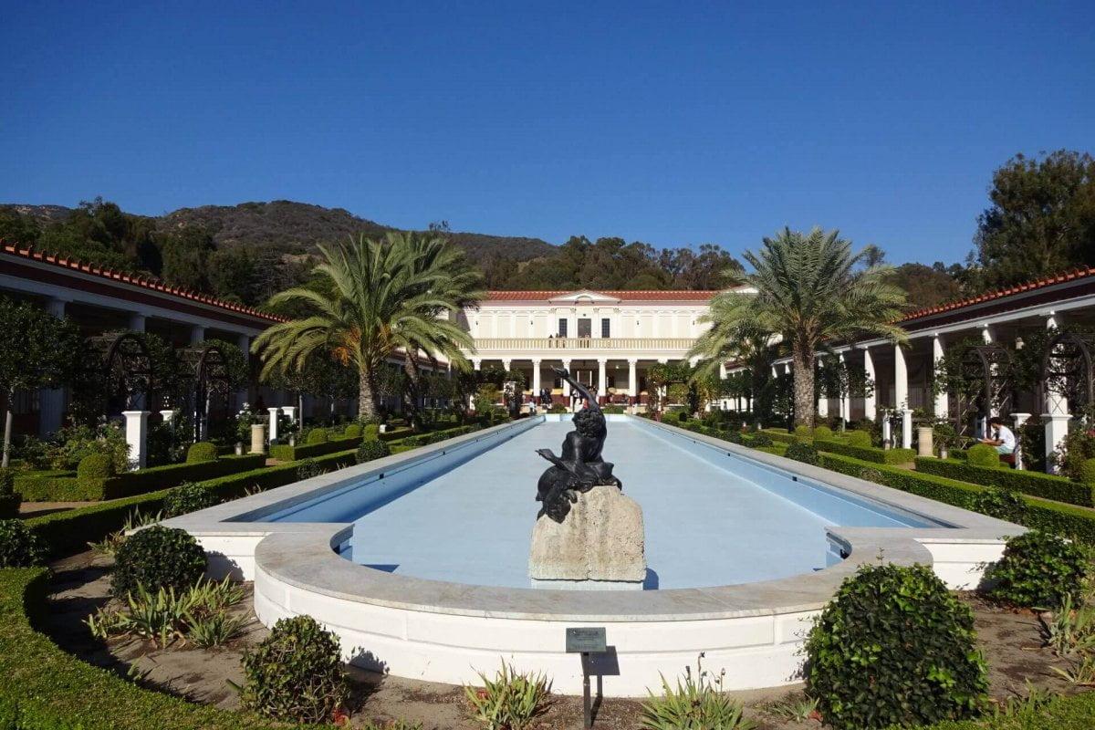 Garten der Getty Villa. Bilder und Eindrücke aus Los Angeles und Hollywood, Kalifornien, USA.