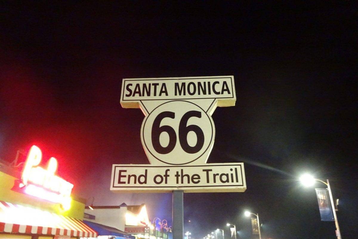 Ende der Route 66 in Santa Monica. Bilder und Eindrücke aus Los Angeles und Hollywood, Kalifornien, USA.