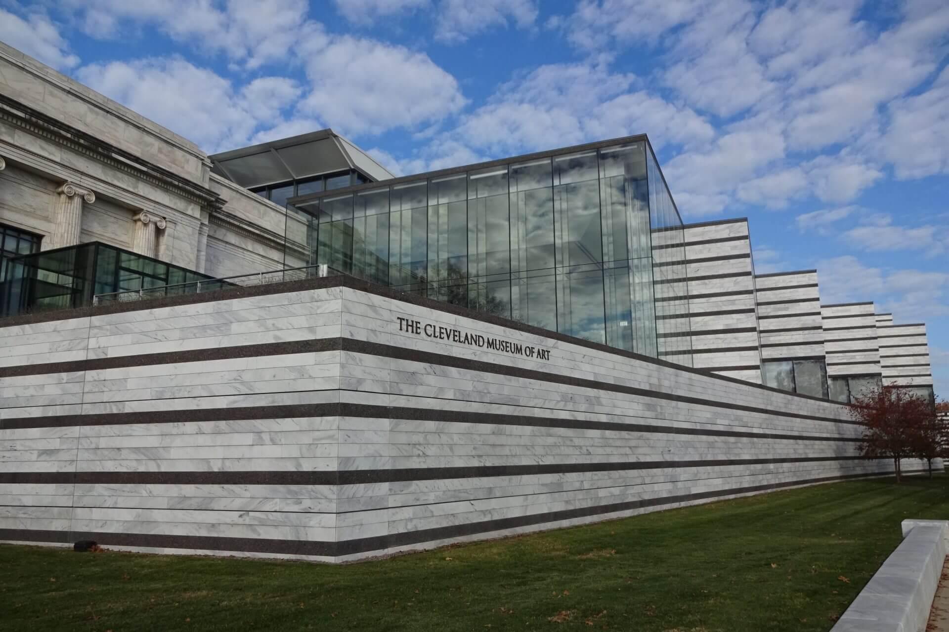 Außenansicht vom Cleveland Art Museum. Bilder und Eindrücke aus Cleveland, Ohio, United States.