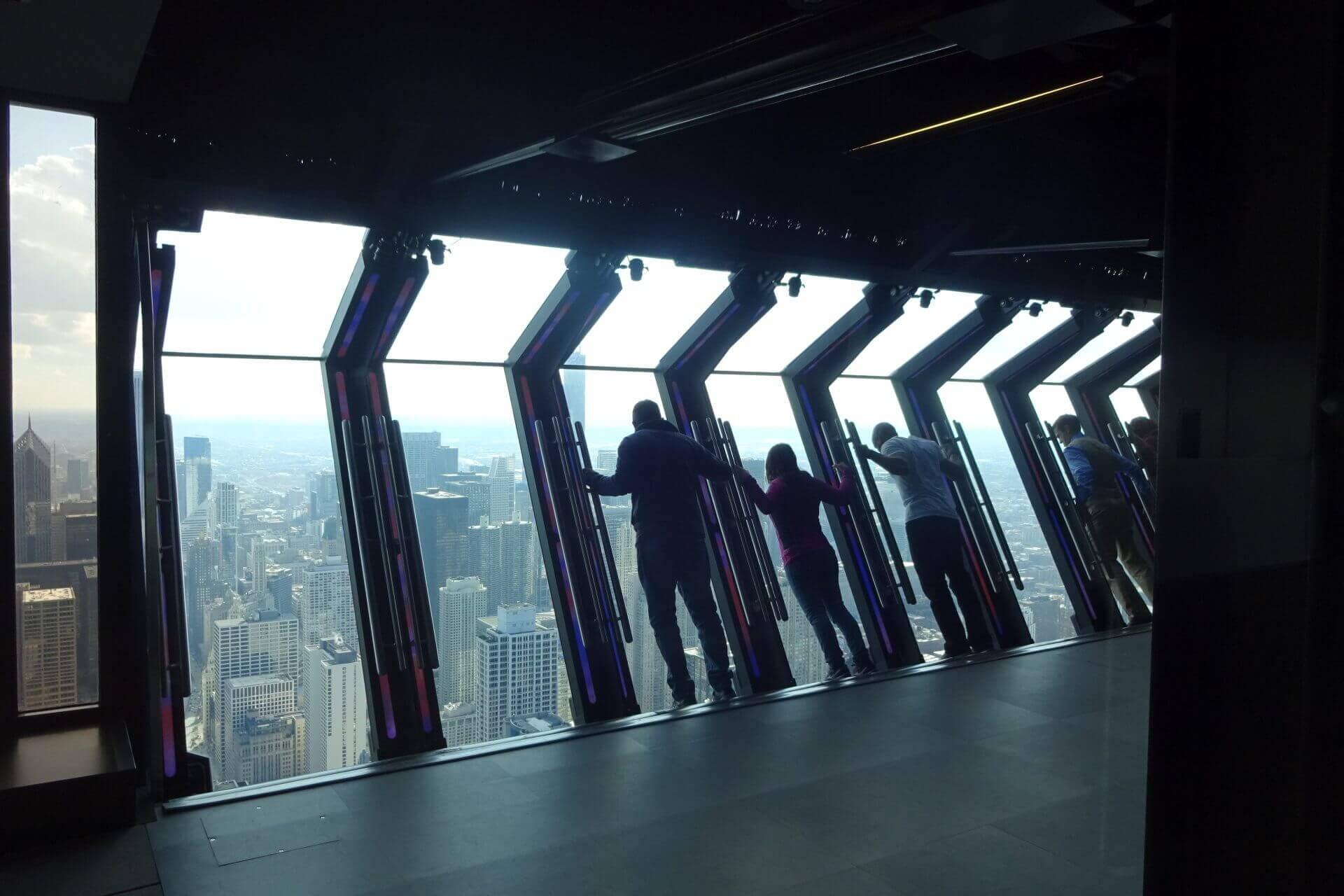 Observatory im 94. Stockwerk des John Hancock Center. Bilder und Eindrücke aus Chicago, Illinois, United States.