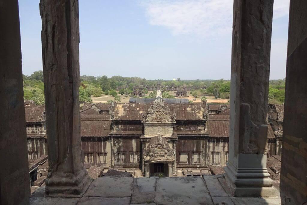 Angkor Wat Ausblick. Bilder und Eindrücke aus Kambodscha - Cambodia, Siem Reap, Angkor Wat, Sihanoukville und Phnom Penh.