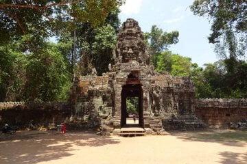 Banteay Kdei Eingangstor. Bilder und Eindrücke aus Kambodscha - Cambodia, Siem Reap, Angkor Wat, Sihanoukville und Phnom Penh.