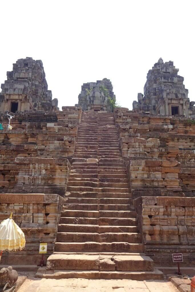 Treppe im Ta Keo Tempel. Bilder und Eindrücke aus Kambodscha - Cambodia, Siem Reap, Angkor Wat, Sihanoukville und Phnom Penh.