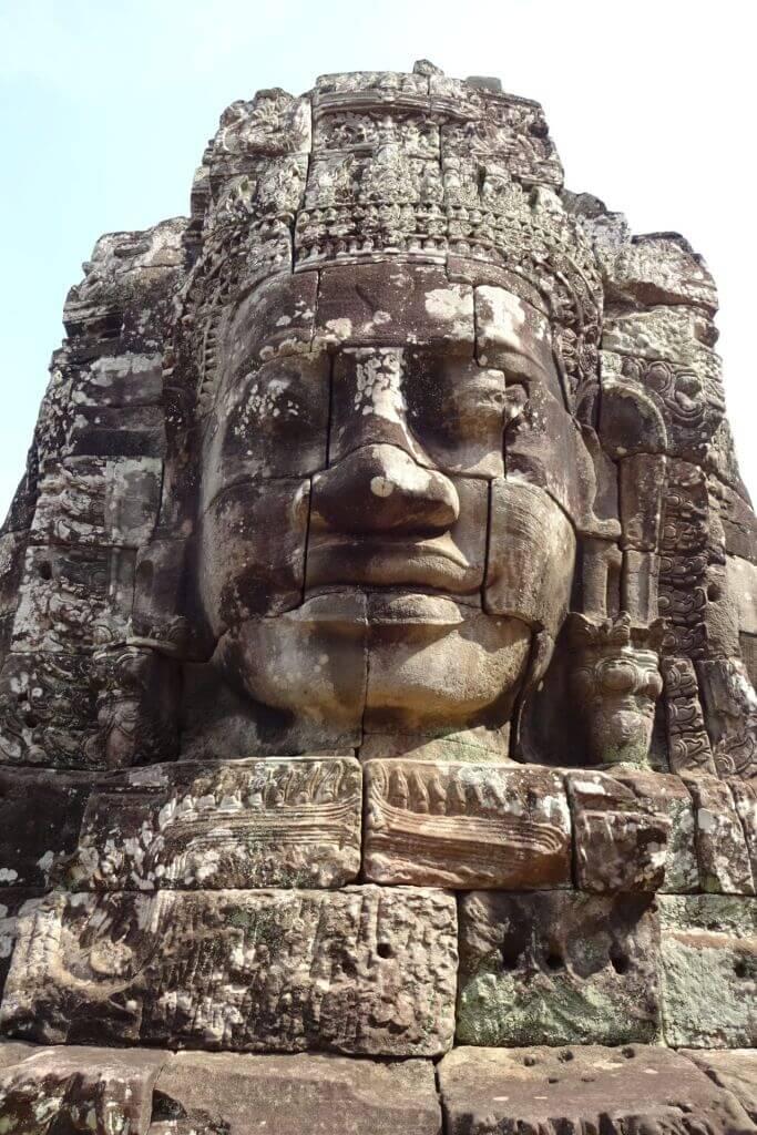 Angkor Thom übergroßes Gesicht. Bilder und Eindrücke aus Kambodscha - Cambodia, Siem Reap, Angkor Wat, Sihanoukville und Phnom Penh.
