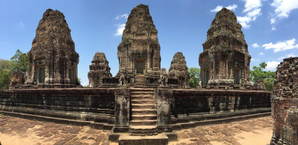 East Mebon Panorama. Bilder und Eindrücke aus Kambodscha - Cambodia, Siem Reap, Angkor Wat, Sihanoukville und Phnom Penh.