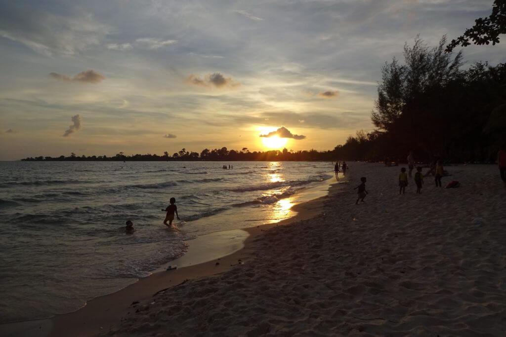 Strand in Sihanoukville. Bilder und Eindrücke aus Kambodscha - Cambodia, Siem Reap, Angkor Wat, Sihanoukville und Phnom Penh.